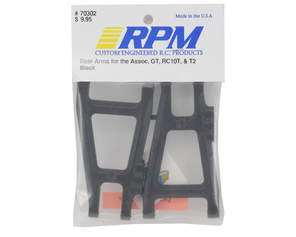 RPM Rear A-Arms (Black) (RC10T/10GT) (2)