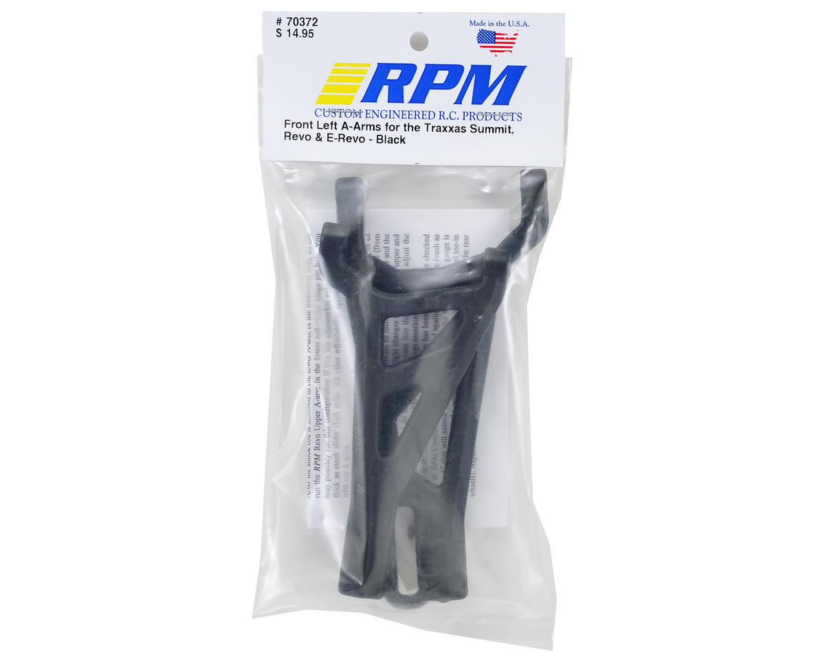 RPM Traxxas Revo/Summit Front Left A-Arms (Black)