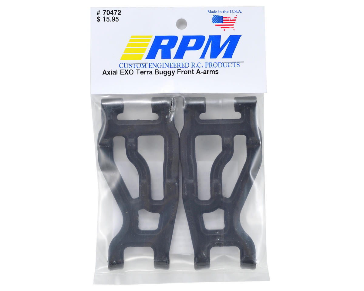 RPM EXO Terra Buggy Front A-Arm Set (Black)