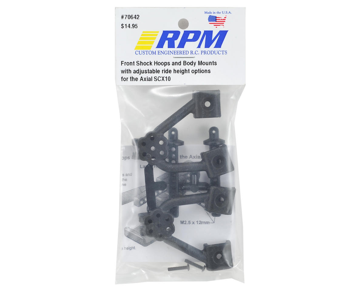 RPM Axial SCX10 Front Shock Hoop & Body Mount Set