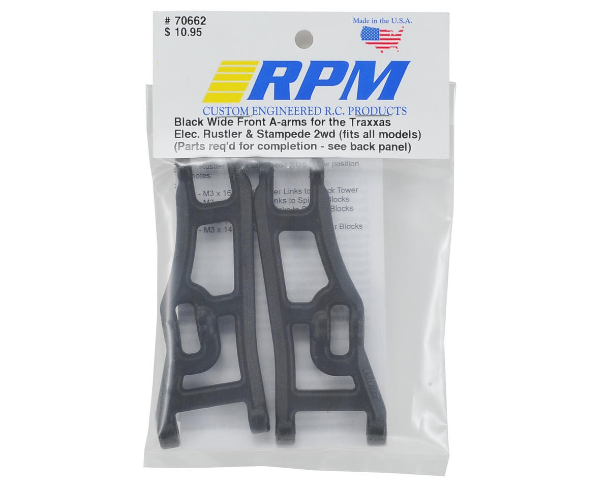 RPM Wide Front A-Arms (2) (Black)