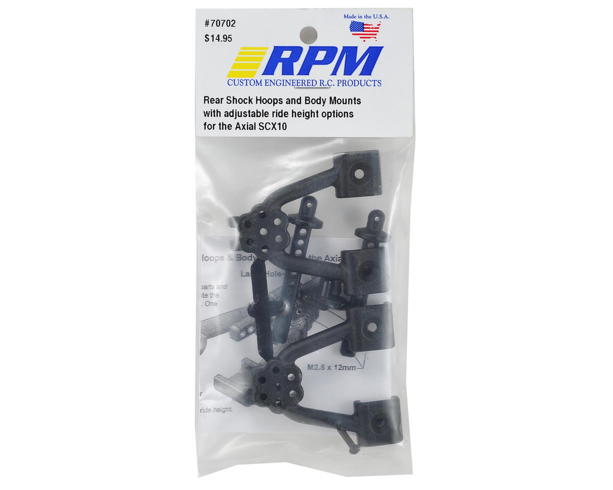 RPM Axial SCX10 Rear Shock Hoop & Body Mount Set