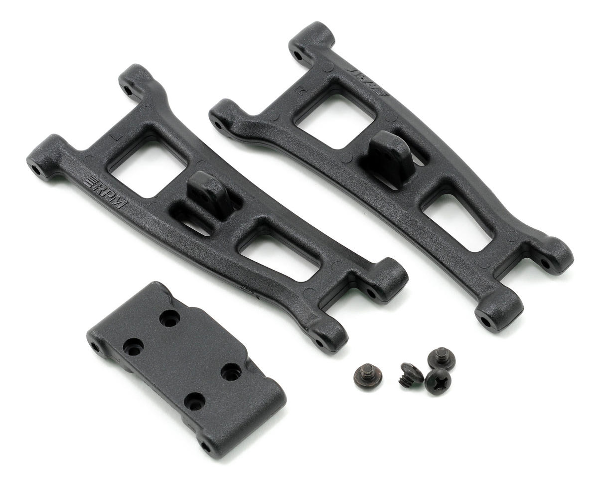 Front A-Arms w/Bulkhead (Black) (GT2, SC10) by RPM