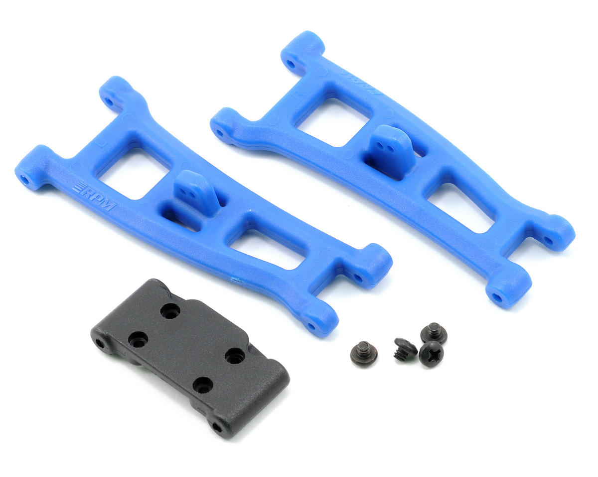 Front A-Arms w/Bulkhead (Blue) (GT2, SC10) by RPM