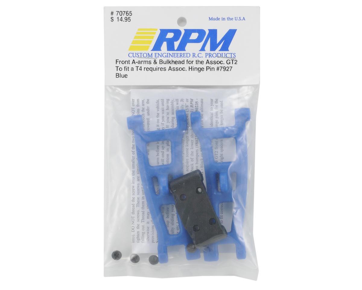 RPM Front A-Arms w/Bulkhead (Blue) (GT2, SC10)