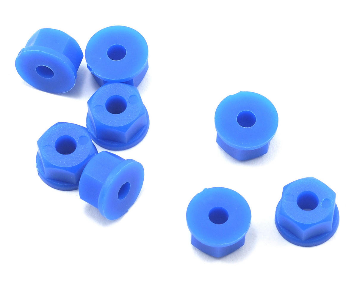 RPM 6-32 Nylon Nuts (Neon Blue) (8)