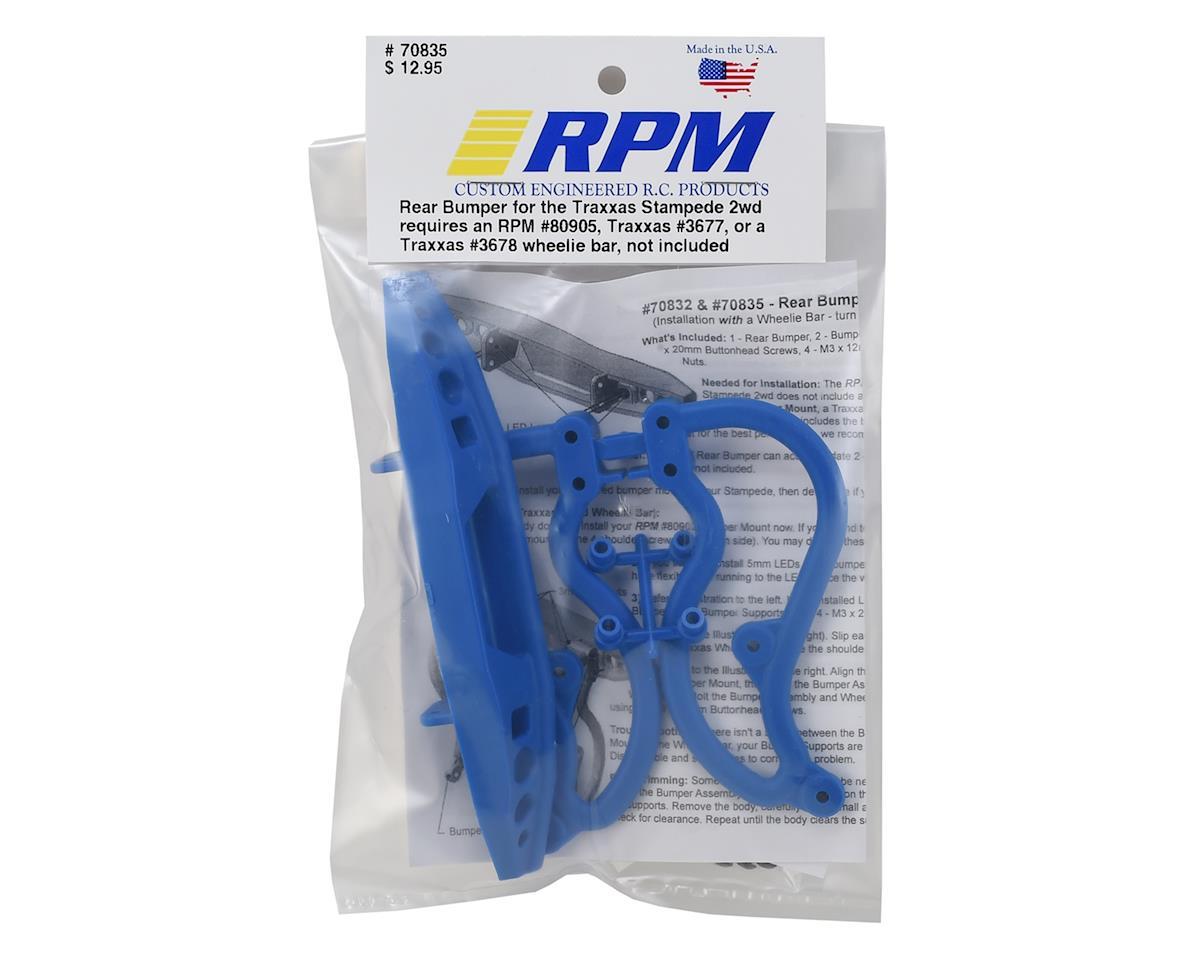 RPM Stampede 2WD Rear Bumper (Blue)