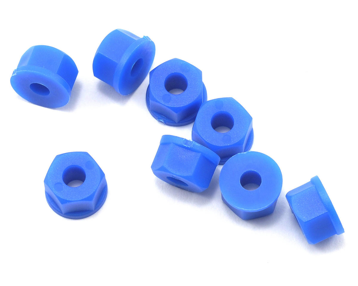 RPM 8-32 Nylon Nuts (Neon Blue) (8)