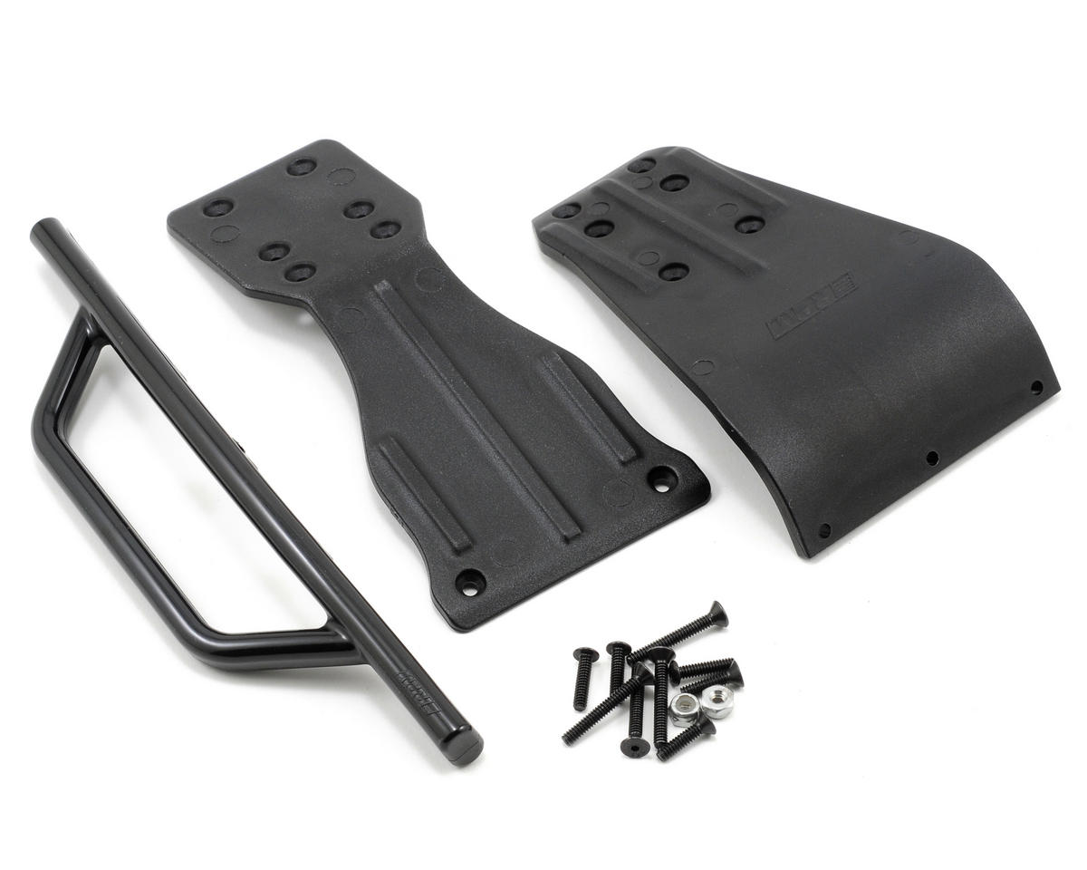 Front Bumper Skid Plate & Chassis Brace Set (Black) (SC10) by RPM