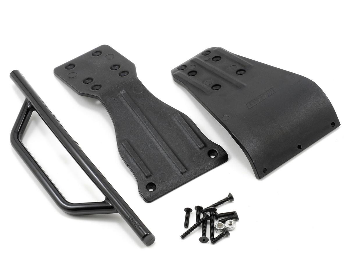 RPM Front Bumper Skid Plate & Chassis Brace Set (Black) (SC10)