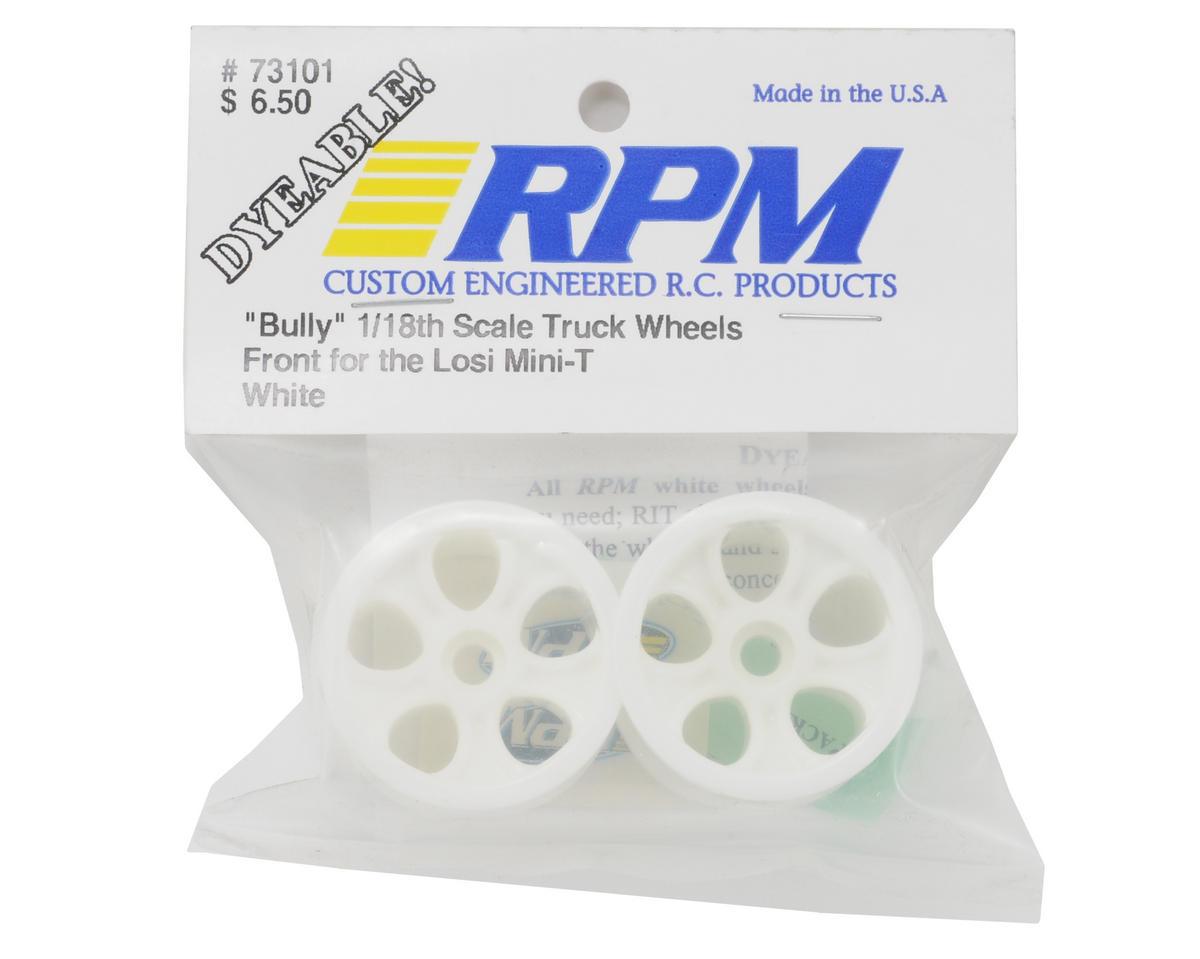 "RPM ""Bully"" Front Wheels (White) (2) (Mini-T)"