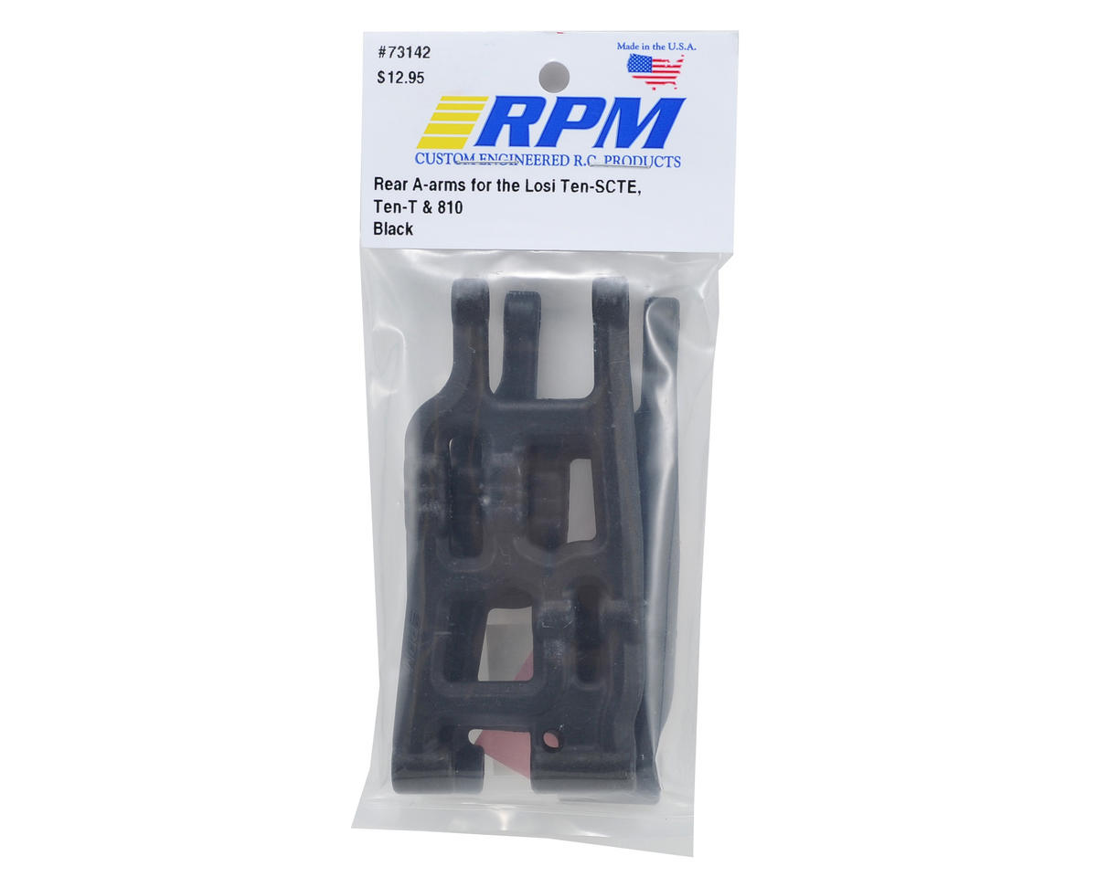 RPM Losi TEN-SCTE Rear A-Arms (Black) (2)