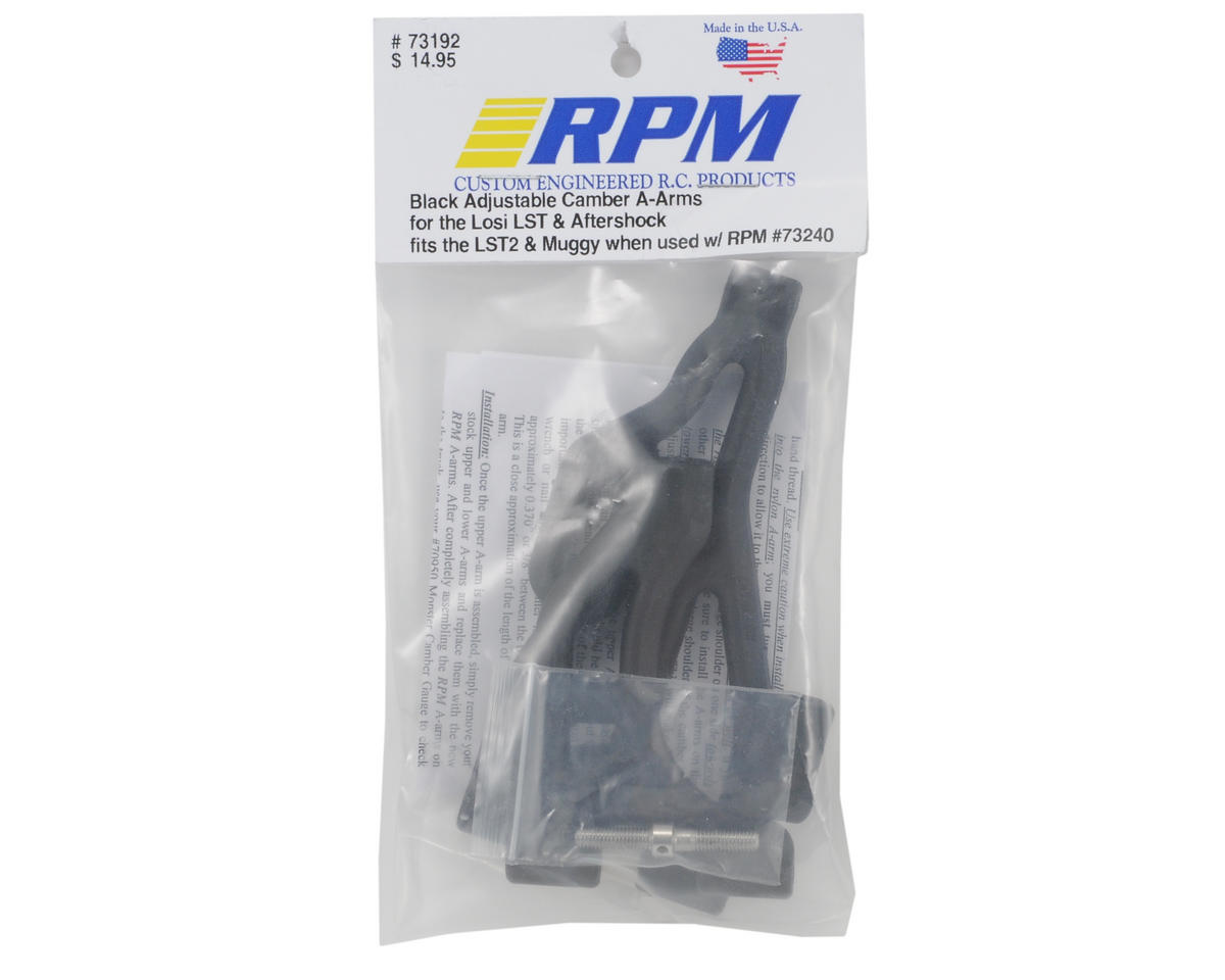 RPM Adjustable Upper & Lower A-Arms (Black) (LST) (1 Each)
