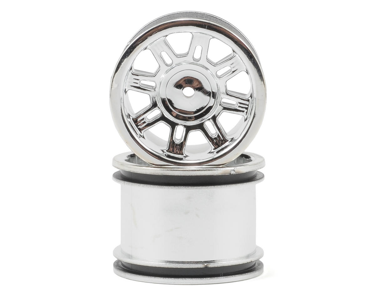 "RPM ""Spider"" Rear Wheels (Chrome) (2) (Mini-T)"