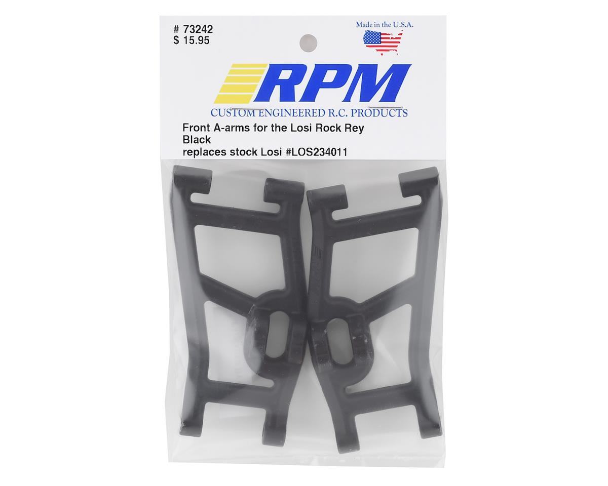 Image 2 for RPM Losi Rock Rey Front A-Arm Set (Black) (2)