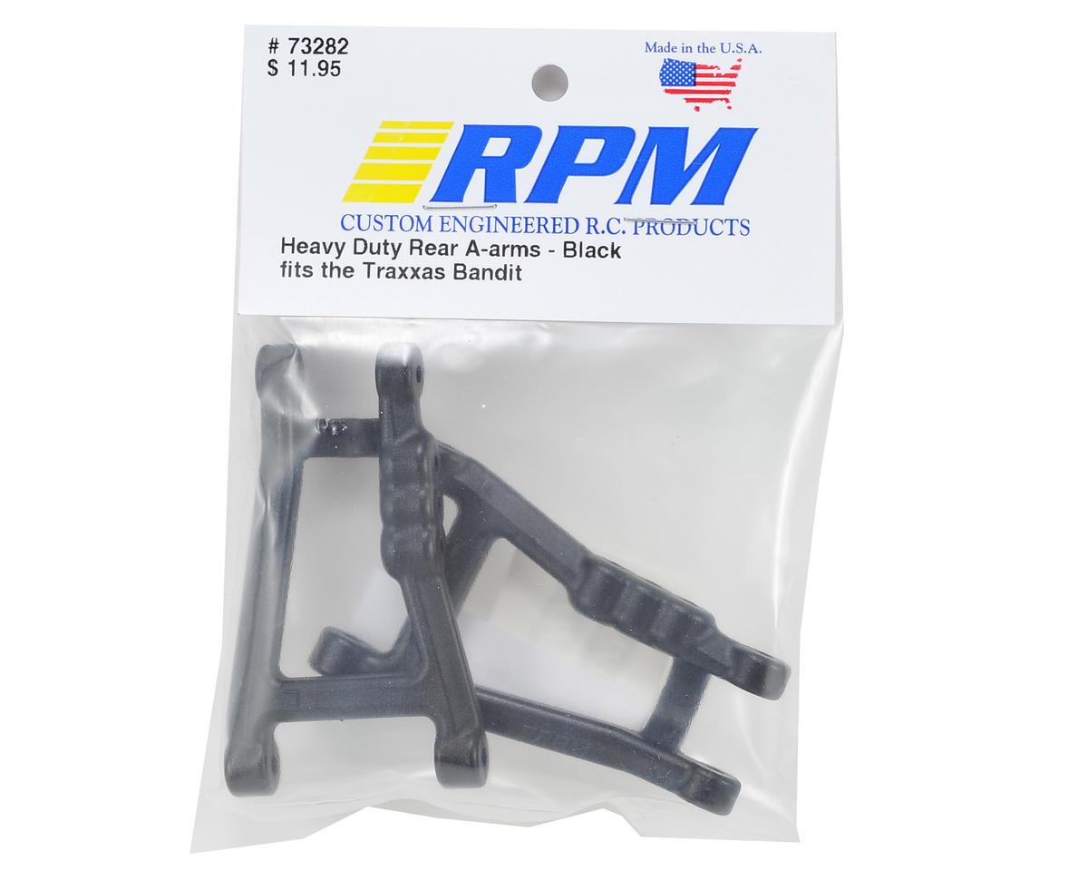 RPM BLACK HEAVY DUTY REAR A-ARMS fits the Traxxas Bandit Model# 73282