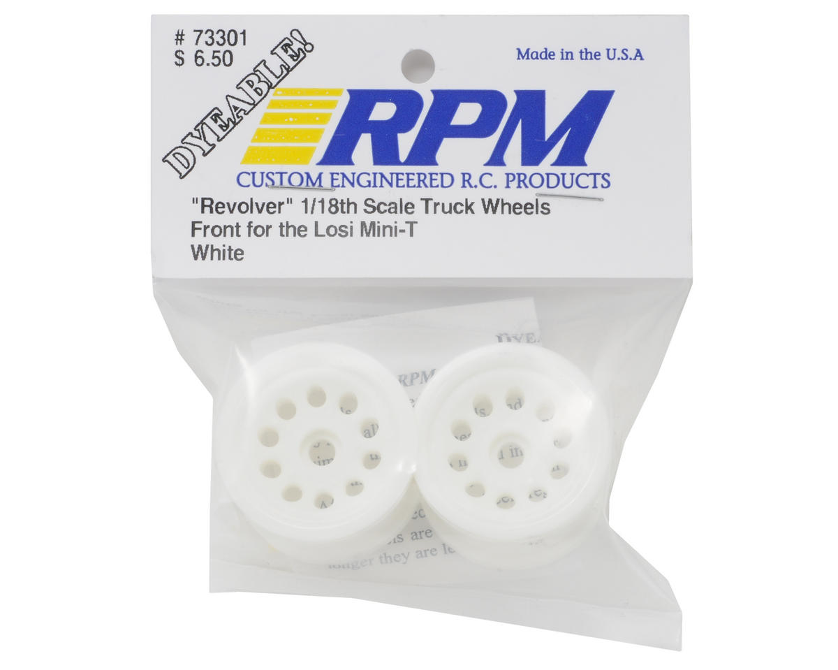 "RPM ""Revolver"" Front Wheels (White) (2) (Mini-T)"