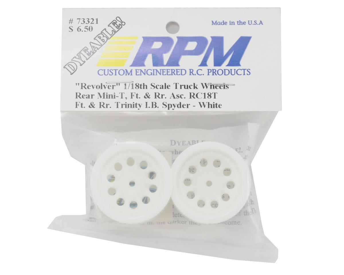 "RPM ""Revolver"" Rear Wheels (White) (2) (Mini-T)"
