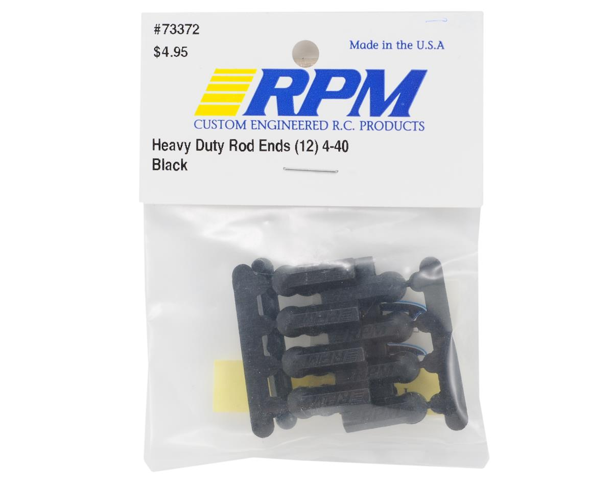 RPM Heavy Duty 4-40 Rod Ends (Black) (12)