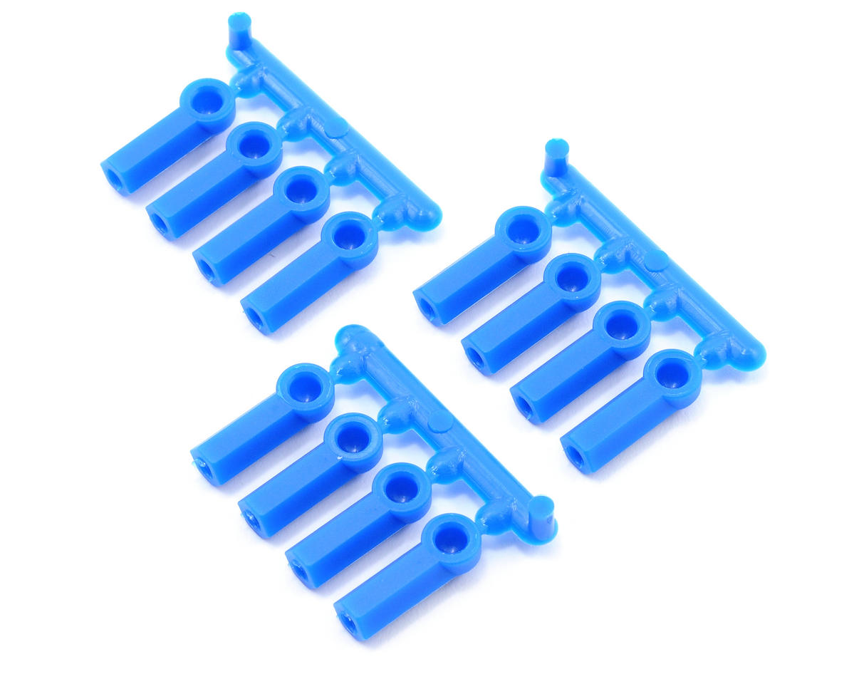 RPM Heavy Duty 4-40 Rod Ends (Blue) (12) (Team Associated RC10 GT2)