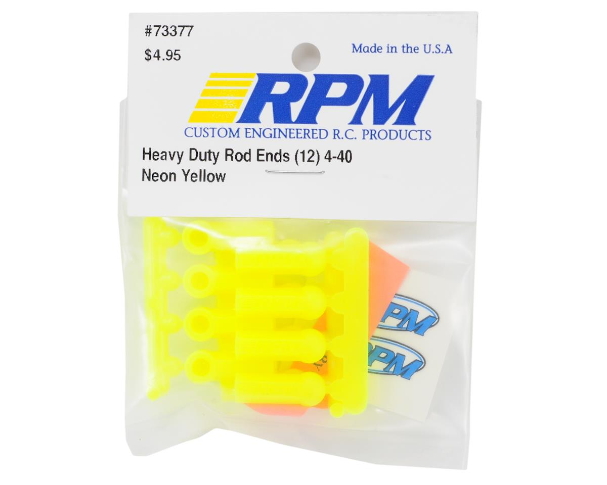 RPM Heavy Duty 4-40 Rod Ends (Yellow) (12)