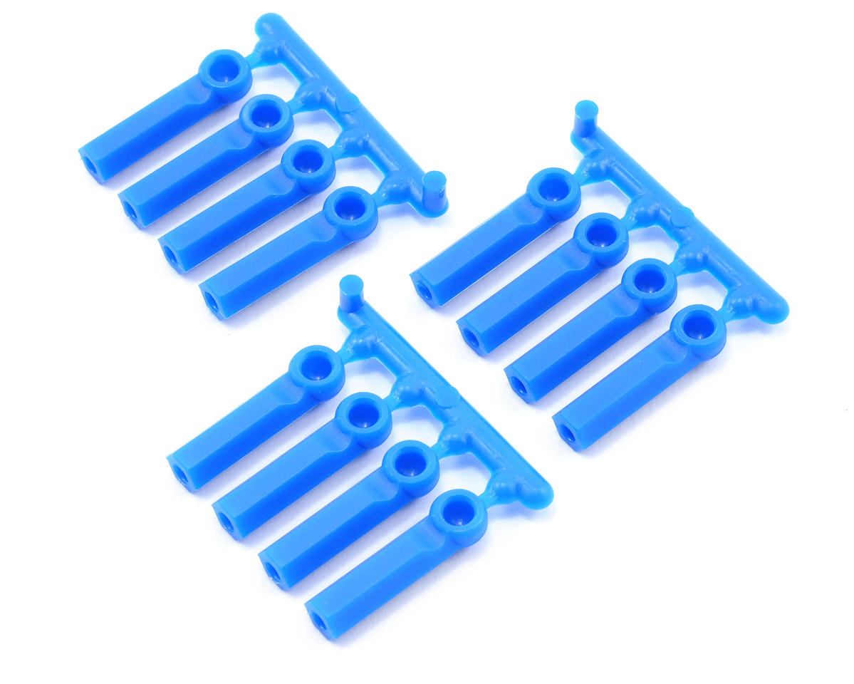 RPM Long Shank 4-40 Rod Ends (Blue) (12) (Losi Strike)