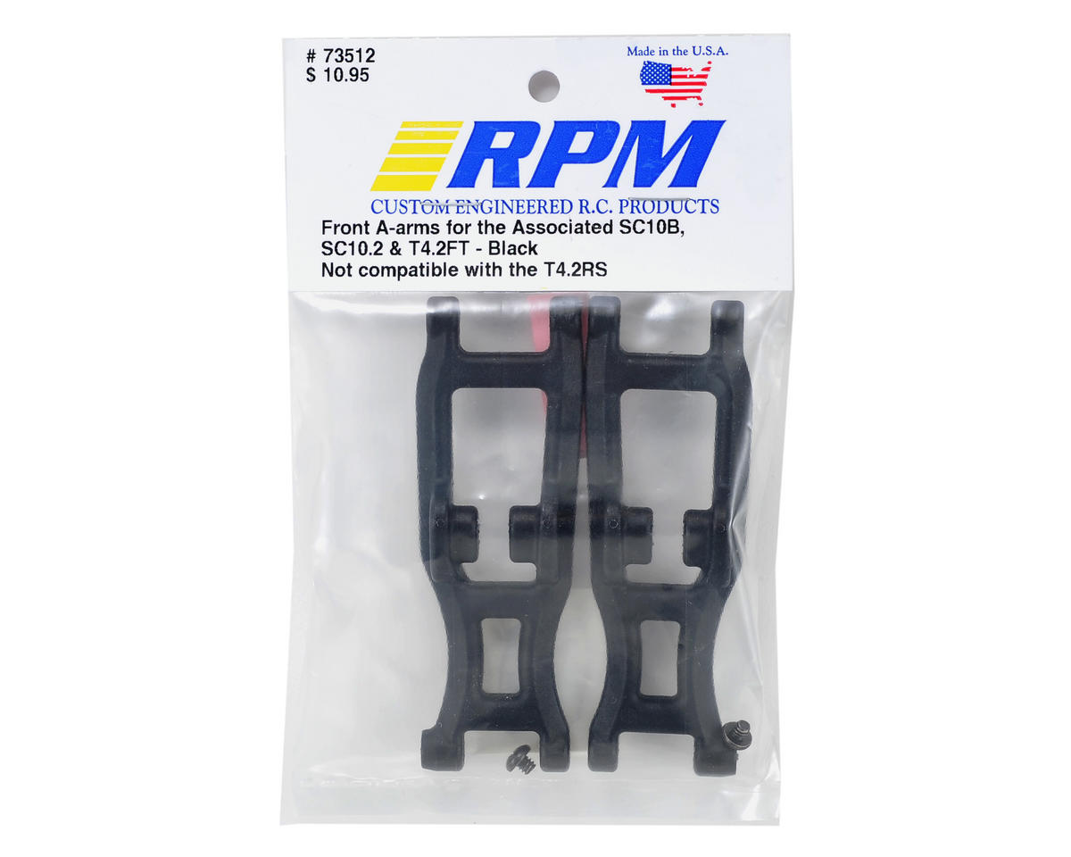 RPM Associated Truck Front A-Arms (Black) (2)