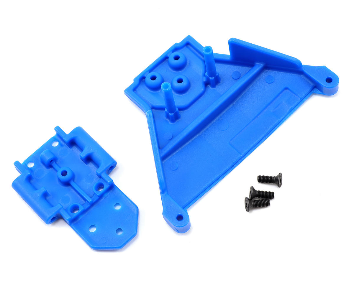 Slash LCG 4x4 Front Bulkhead (Blue) by RPM