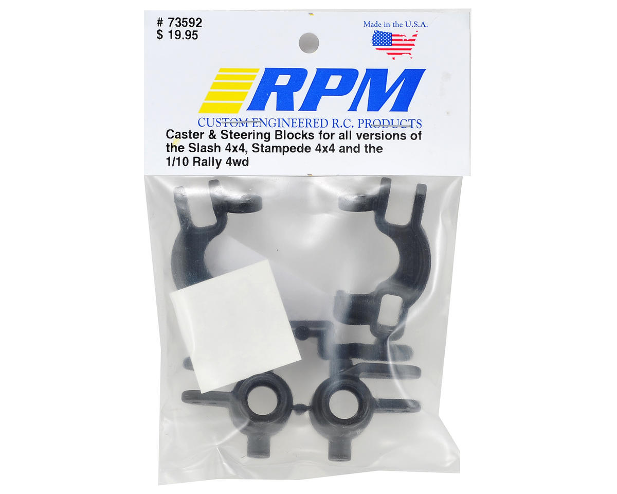 RPM Traxxas 4x4 Caster & Spindle Block Set (Black)