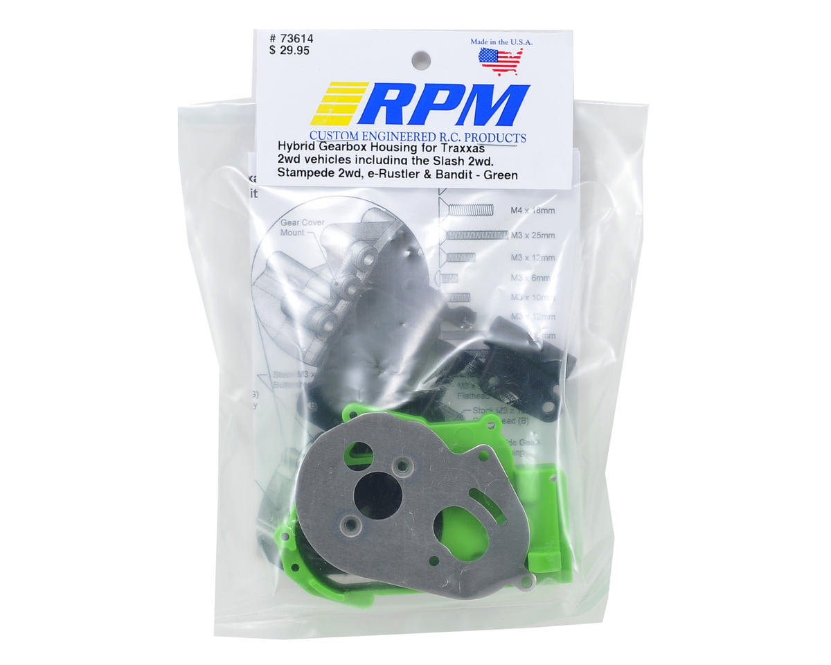 RPM Hybrid Gearbox Housing & Rear Mount Kit (Green)