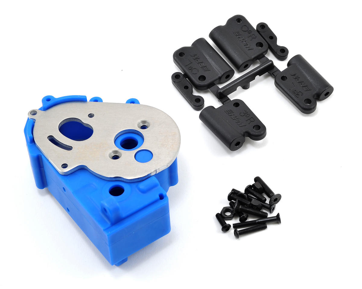 RPM Hybrid Gearbox Housing & Rear Mount Kit (Blue) (Traxxas Bandit)