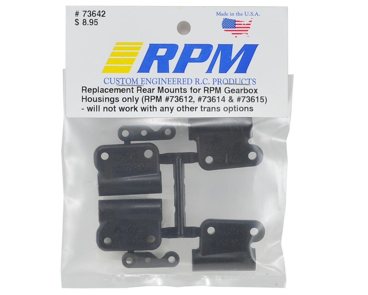 RPM 0° & 3° Hybrid Gearbox Rear Mount Set (Black)