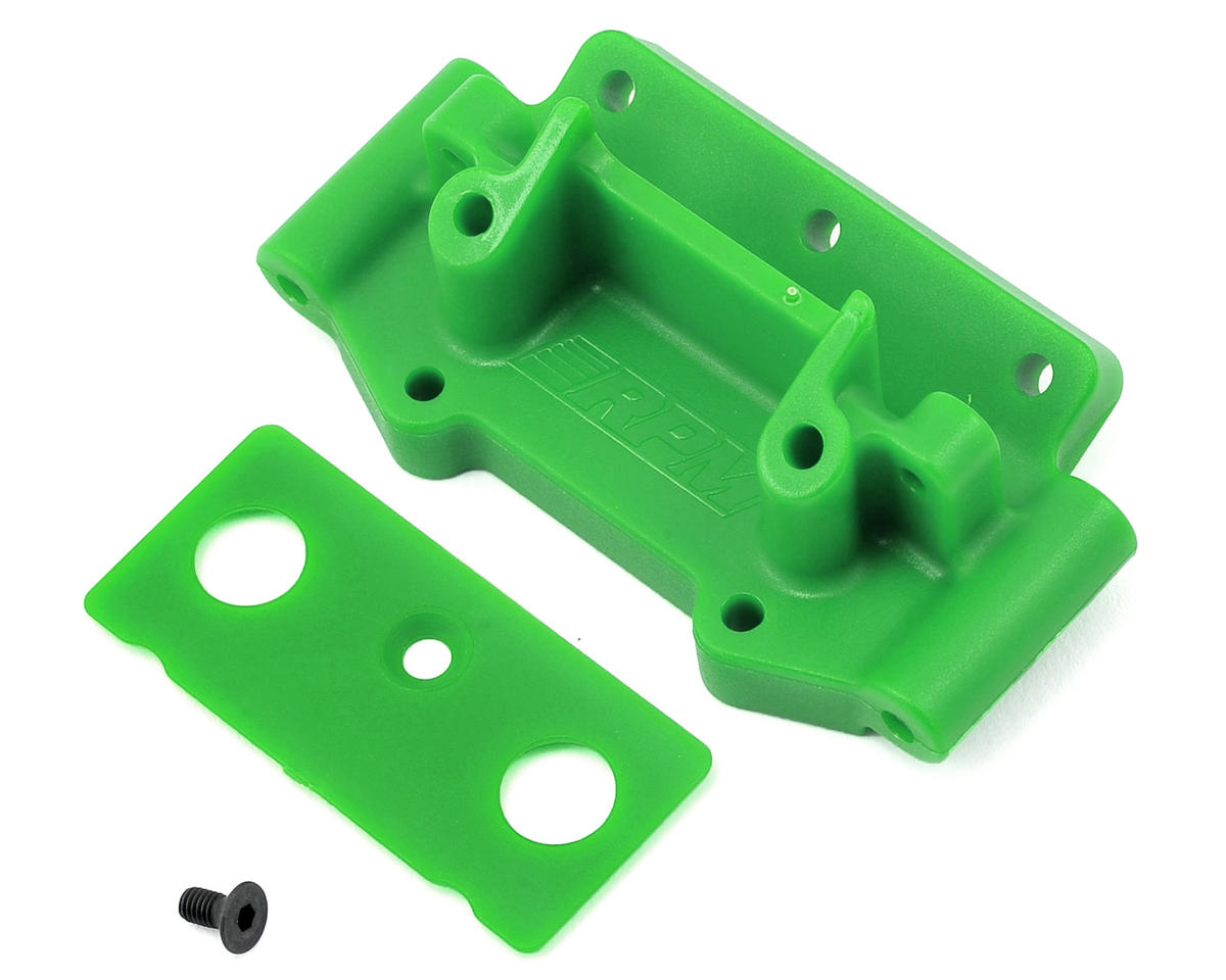 Traxxas 2WD Front Bulkhead (Green) by RPM