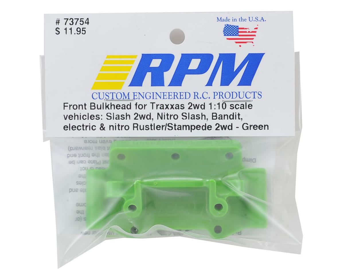 RPM Traxxas 2WD Front Bulkhead (Green)
