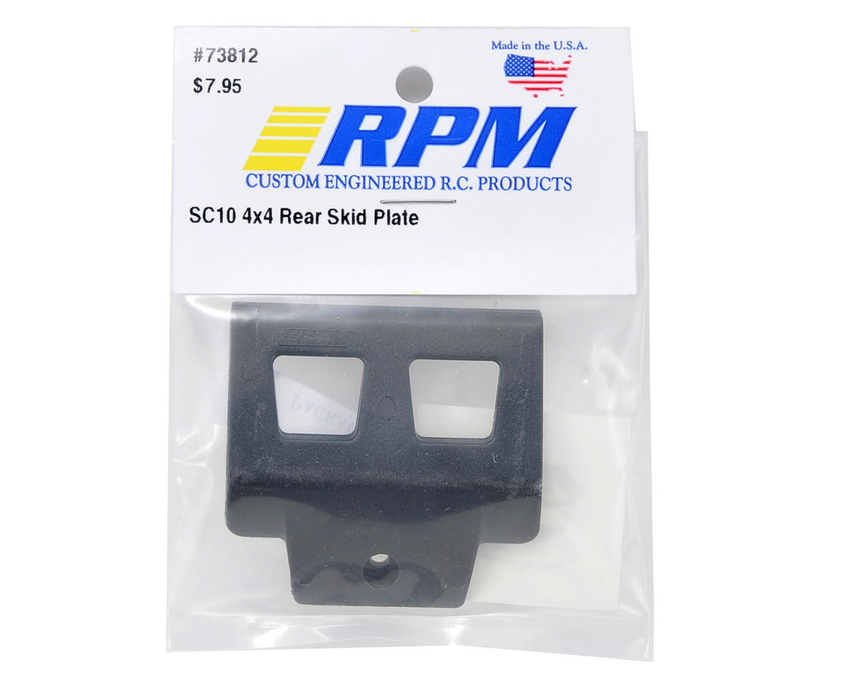 RPM SC10 4x4 Rear Skid Plate (Black)