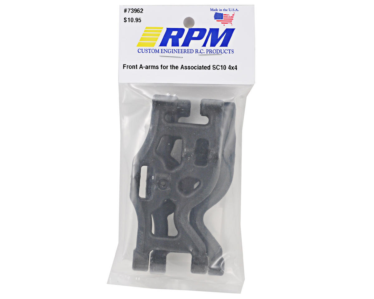 SC10 4x4 Front Arm Set (Black) by RPM