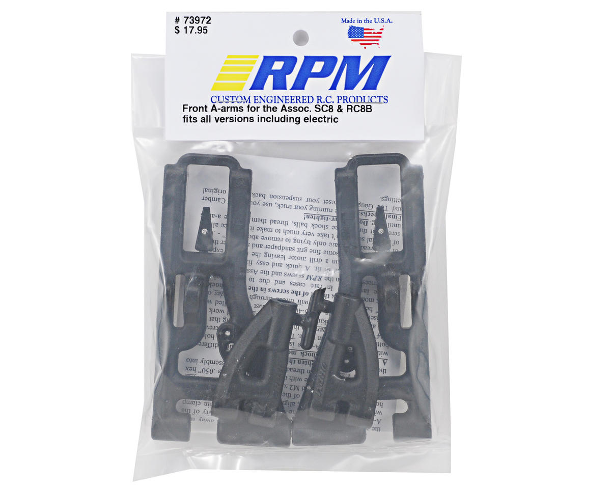 RPM SC8/RC8B Front Lower A-Arms (Black)