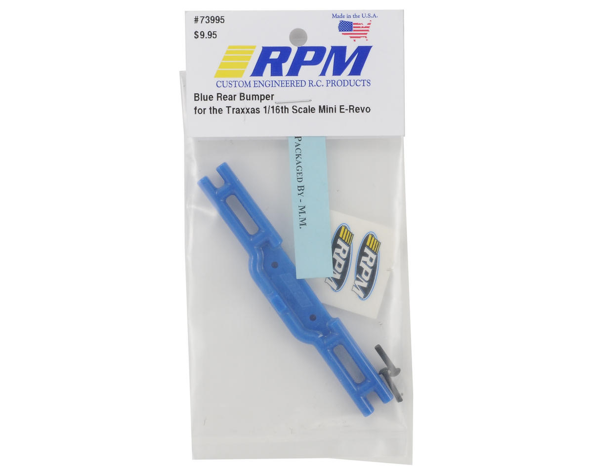 RPM Rear Bumper (Blue) (1/16 E-Revo)
