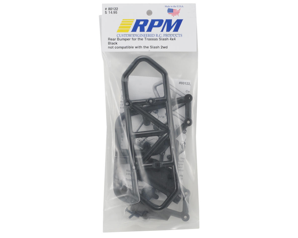 RPM Rear Bumper (Black) (Slash 4x4)