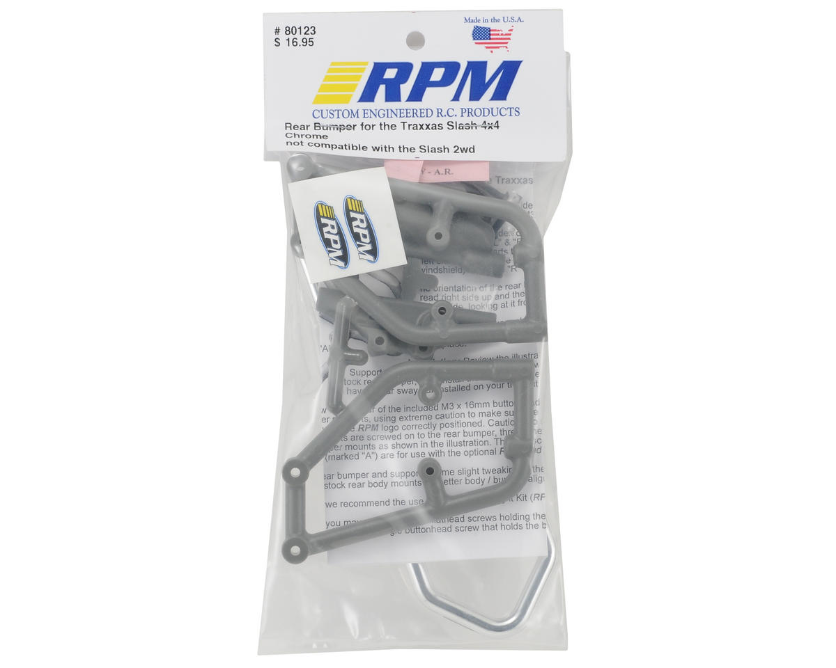 RPM Rear Bumper (Chrome) (Slash 4x4)