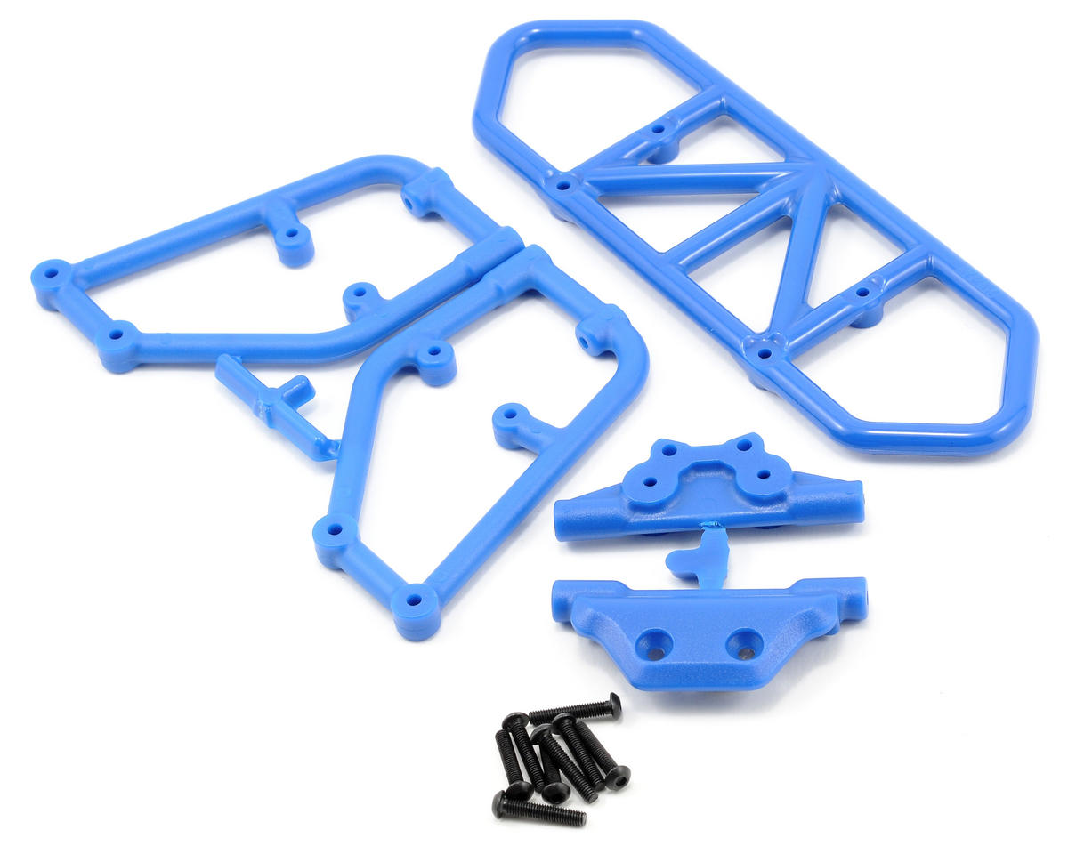 Rear Bumper (Blue) (Slash 4x4) by RPM