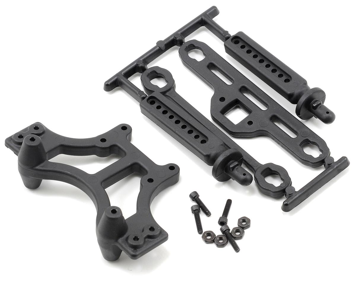 RPM Shock Tower w/Body Mount (Black) (Traxxas T-Maxx)