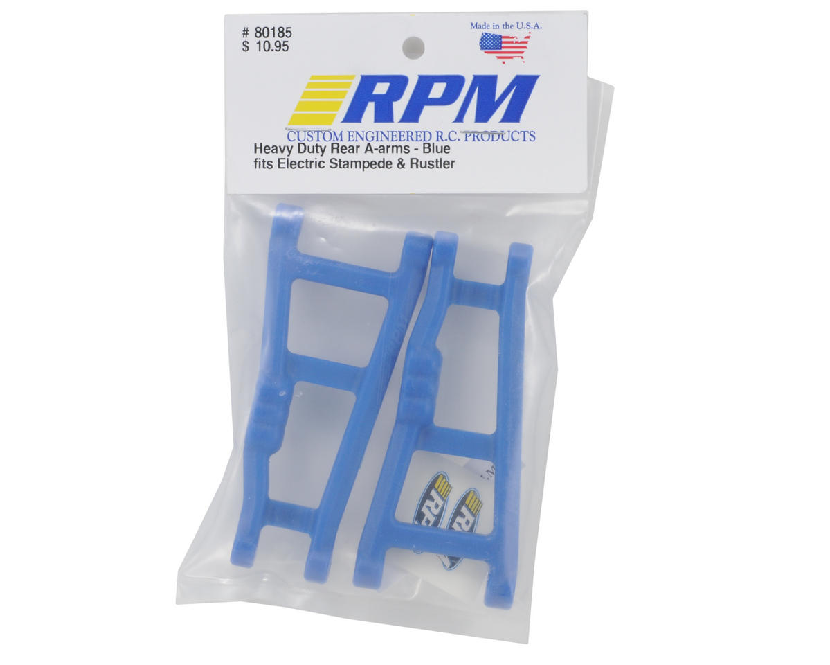 Traxxas Rustler/Stampede Rear A-Arm Set (Blue) (2) by RPM