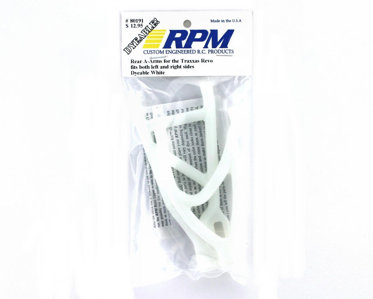 RPM Traxxas Revo Rear Left/Right A-Arms (Dyeable White)