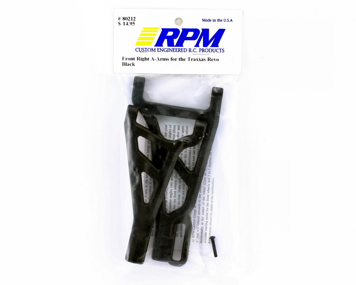 Image 2 for RPM Traxxas Revo/Summit Front Right A-Arms (Black)