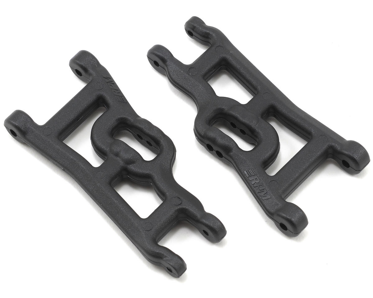 Front A-Arms (Black) (Rustler Stampede Slash) (2) by RPM
