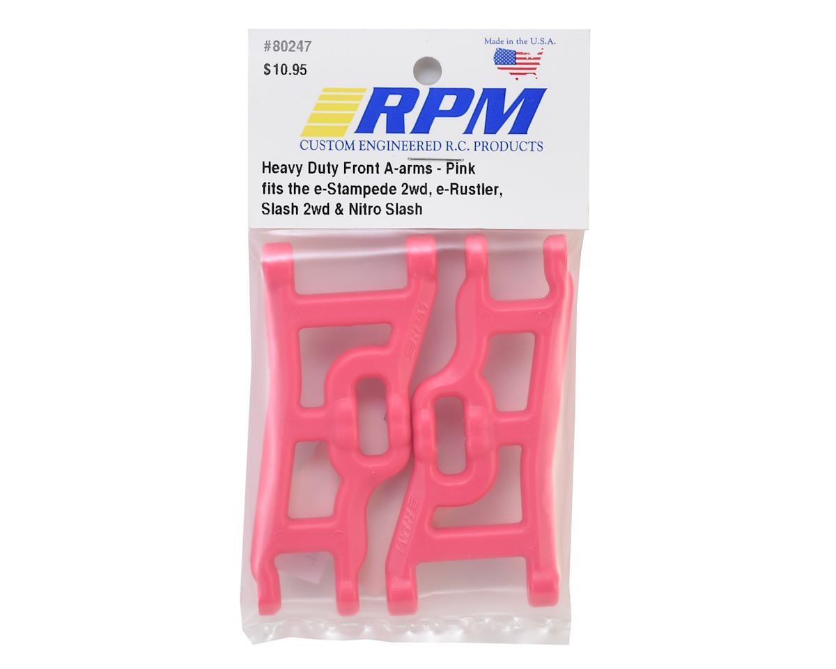 RPM Front A-Arms (Pink) (Rustler, Stampede & Slash) (2)