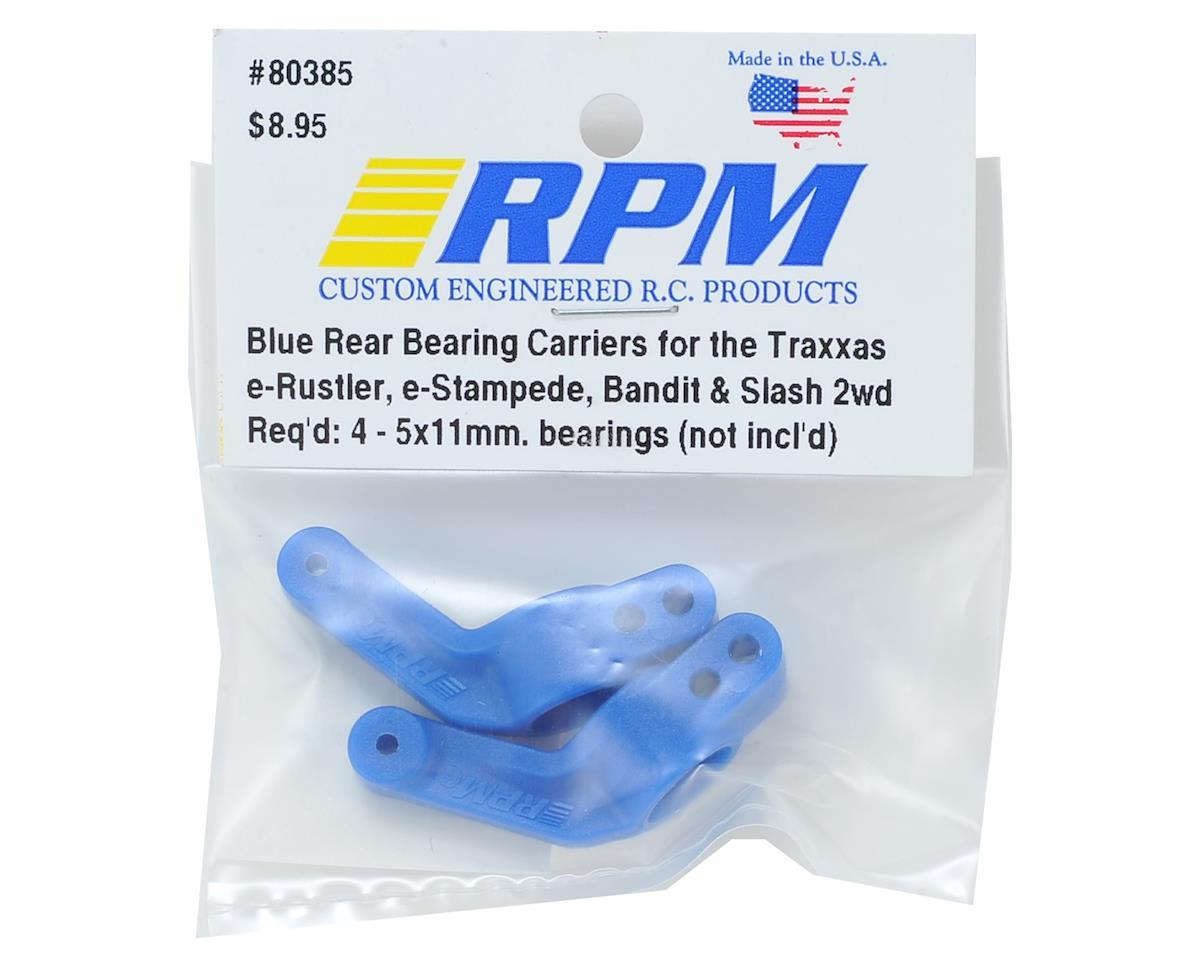 RPM Rear Traxxas Stub Axle Carriers (2) (Blue)