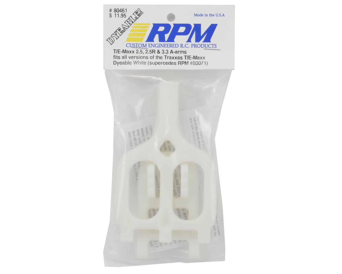 RPM A-Arm (White)  (T Maxx 3.3/2.5R)