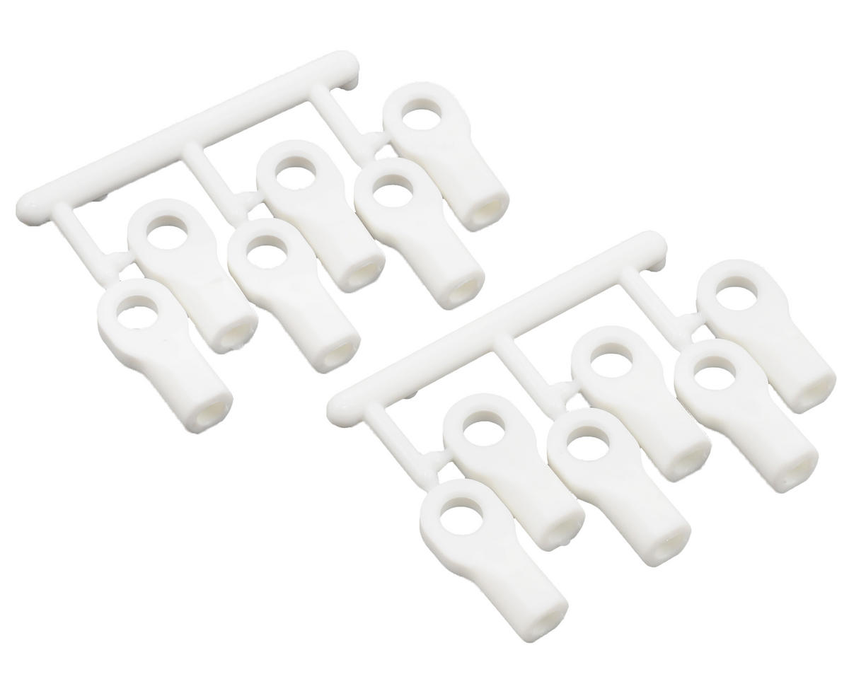 Short Traxxas Turnbluckle Rod End Set (White) (12) by RPM